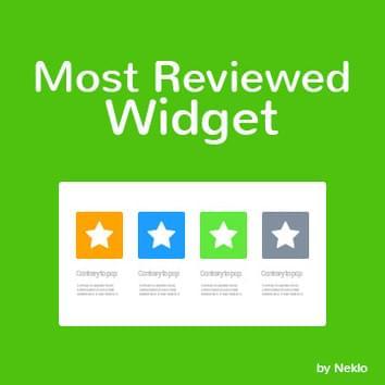 Most Reviewed Widget