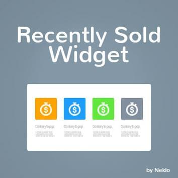 Recently Sold Widget